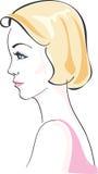 Bella donna affascinante illustrazione vettoriale