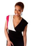 Bella donna africana sorridente di affari Fotografia Stock Libera da Diritti