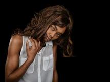 Bella donna afroamericana immagini stock