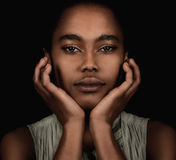 Bella donna afroamericana fotografia stock