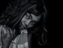 Bella donna afroamericana fotografia stock libera da diritti