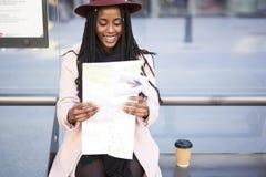 Bella donna afroamericana emozionale Immagini Stock Libere da Diritti