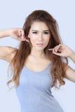Bella donna asiatica Fotografia Stock