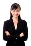 Bella donna asiatica di affari Fotografia Stock