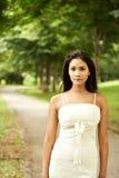 Bella donna asiatica esterna Fotografia Stock