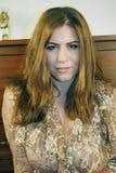 Bella donna, capelli marroni Fotografia Stock Libera da Diritti