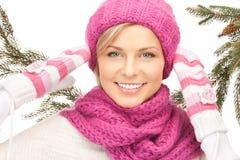 Bella donna in cappello di inverno Immagine Stock Libera da Diritti