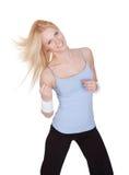 Bella donna che gode della forma fisica di Zumba Fotografie Stock