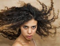 Bella donna che scuote i suoi capelli Fotografie Stock Libere da Diritti