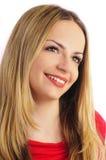 Bella donna con capelli biondi lunghi Immagini Stock Libere da Diritti