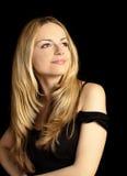 Bella donna con capelli biondi lunghi Immagine Stock Libera da Diritti