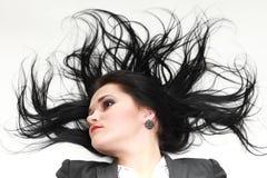Bella donna con capelli lunghi Fotografia Stock Libera da Diritti
