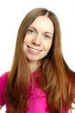 Bella donna con capelli marroni lunghi Immagine Stock Libera da Diritti