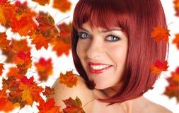 Bella donna con capelli rossi Fotografia Stock Libera da Diritti