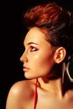 Bella donna con i capelli di scarsità Immagine Stock