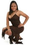 Bella donna con il percorso di residuo della potatura meccanica Fotografia Stock
