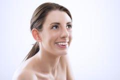 Bella donna con il sorriso bello Fotografia Stock