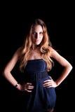 Bella donna con il vestito elegante Immagine Stock