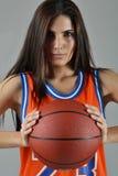 Bella donna con la palla Fotografie Stock