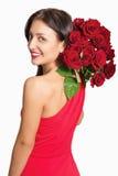 Bella donna con le rose Fotografia Stock Libera da Diritti