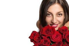 Bella donna con le rose Immagine Stock Libera da Diritti