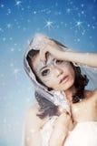 Bella donna con le stelle Fotografie Stock