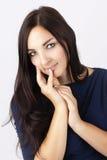 Bella donna con lo sguardo romantico Fotografia Stock