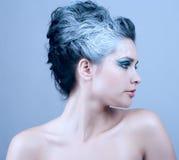 Bella donna con stile di inverno fotografie stock