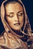 Bella donna con trucco Fotografie Stock