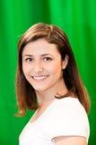 Bella donna con un sorriso affascinante Fotografie Stock Libere da Diritti