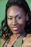 Bella donna del African-American Immagini Stock