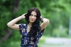 Bella donna del ritratto Fotografie Stock Libere da Diritti