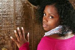 Bella donna dell'africano-america Fotografia Stock Libera da Diritti