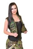 Bella donna dell'esercito Fotografia Stock Libera da Diritti