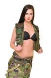 Bella donna dell'esercito Immagini Stock Libere da Diritti