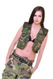 Bella donna dell'esercito Fotografia Stock