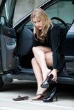 Bella donna di affari bionda di anni '20 Immagine Stock Libera da Diritti