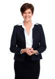 Bella donna di affari con la breve acconciatura fotografie stock