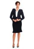 Bella donna di affari con la breve acconciatura Fotografia Stock Libera da Diritti