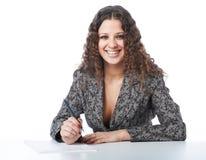 Bella donna di affari sorridente Immagini Stock Libere da Diritti