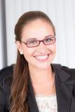 Bella donna di affari sorridente Fotografie Stock
