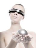 Bella donna di cyber Fotografie Stock