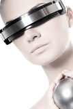Bella donna di cyber Immagine Stock