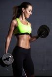 bella donna di ginnastica Immagini Stock