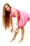 Bella donna di modello sexy con capelli lunghi Fotografie Stock Libere da Diritti