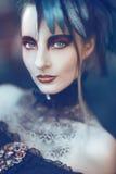 Bella, donna disegnata gotica romantica Immagine Stock