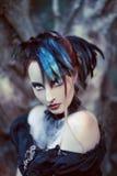 Bella, donna disegnata gotica romantica Immagini Stock