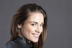 Bella donna felice Fotografia Stock