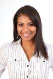 Bella donna femminile sorridente nera di affari Fotografia Stock Libera da Diritti