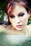 Bella donna, fine in su Fotografie Stock Libere da Diritti